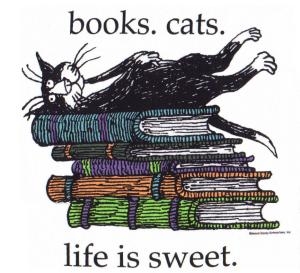 Blog widget gorey books. cats. live is sweet